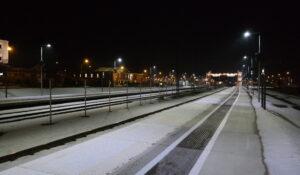 Plattformsbelysning: Markaryd Station